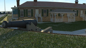 Recreation of Fort Moultrie Ca 1855