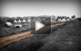 Explanatory video, demonstrating an example of a Covered Way around a Civil War fortification, circa spring 1862.