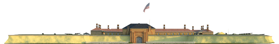 Fort Moultrie's rear facade