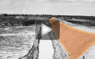 "Educational video intended to illustrate the ""exterior slope"" of a typical Civil War earthen field-fortification"