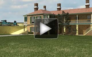 Video of Fly-over Fort Moultrie SC ca. 1860