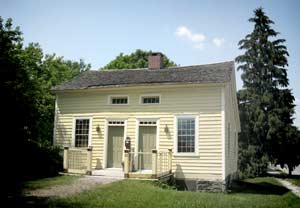 Abner Doubleday's birthplace at 24 Washington Street in modern Ballston Spa, New York, as it is preserved today. (Historic New York)