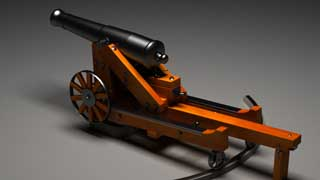 3D-model of a 24 pounder Gun