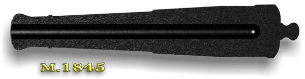 Cross-sectional view of the later Model 1845 tube and bore; click anywhere on this gun to see the 1829 version. (Battlefields in Motion, Ltd.)