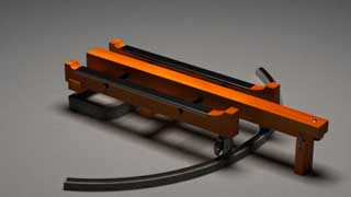 3D CGI Model of a barbette carriage