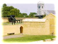 Modern view of Fort Moultrie's Traverse, originally added to its interior defenses around 1820