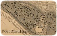 Detail showing Fort Moultrie in 1825, from a larger survey-map of Charleston Harbor compiled by the topographical engineer Capt. Hartman Bache and other U.S. Army officers; note the lengthy jetty extending out behind to reach the deeper waters of the Cove. (Library of Congress)