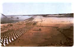 1845 painting of camp Corpus Christi Texas
