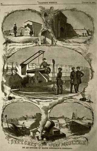 1860 Sketches of Beleaguered Moultrie in Harper's Weekly