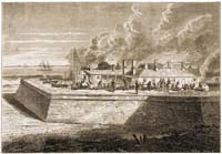 1860 Moultrie's Gun-Carriages Ablaze by Leslie's