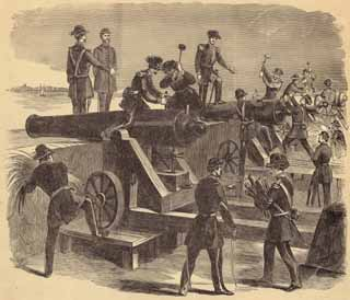 1860 Spiking of Moultrie's Guns by Leslie's