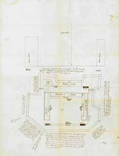 1861 Sketch of Fort's Weaknesses by James Simons