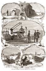 """Sketches of Fort Moultrie by an officer of Major Anderson's Command,"" showing the many defensive enhancements added under Capt. John G. Foster. (Harper's Weekly of January 12, 1861)"