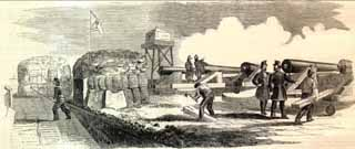 1861 Firing on Star of the West by Harper's Weekly