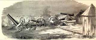 1861 Dismounted SW Angle Guns by Harper's Weekly
