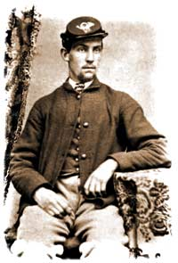 Lt. Charles Sellmer of the 11th Maine, photographed at the beginning of the war, ca. 1861. (Maine State Archives)