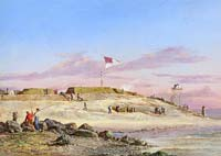 1863 (November 10) – Sumter As Seen from Fort Moultrie, by Conrad Wise Chapman