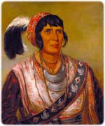 Osceola as painted by George Catlin, while being held captive in Fort Moultrie, January 1838