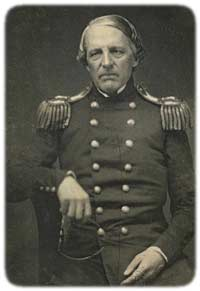 The U.S. Army Adjutant-General, Col. Samuel Cooper, ca. 1856, who later became a Confederate General; note that he is holding his spectacles in his right hand. (National Portrait Gallery)
