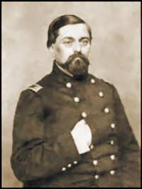 Portrait of Capt. Israel Vogdes, presumably taken three-and-a-half years after meeting with Mary Chesnut's riding-party, as oak-leaf clusters are visible upon his epaulettes and his tunic bears fourteen brass-buttons, indicative of his promotion to Major in the U.S. Army as of May 14, 1861. (National Archives and Records Administration)