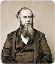 The Ohio-born attorney Edwin M. Stanton, Lincoln's Secretary of War, as photographed by Mathew Brady, ca. 1864. (U.S. National Archives and Records)
