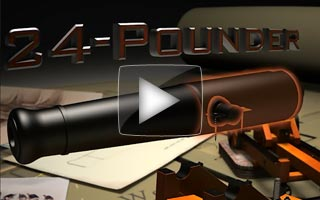 Video showing the differing Reinforces of 32pdr 24pdr and 8 inch Columbiad guns highlighting the different parts