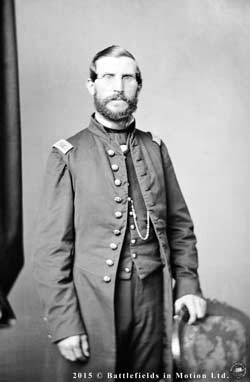 First Lt. Adam J. Slemmer, as photographed in late May 1861 by Mathew Brady in his New York City studio. Hailed as a Union hero, Slemmer had arrived in that city from Key West, Florida, on the morning of May 26, 1861, to be reassigned to Fort Hamilton. (Library of Congress)