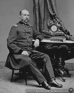 Maj.-Gen. John G. Foster, as photographed ca. 1863 in Mathew Brady's studio in Washington, D. C.