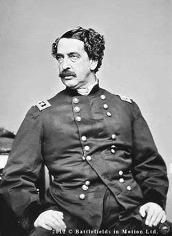 Animated stereoscopic photos by Brady, of Doubleday as a Brigadier General, 1862