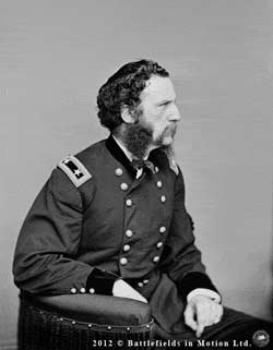 Another Brady side-portrait of Maj.-Gen. S. Wylie Crawford, ca. 1864-1865, in stereoscopic animation