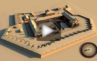 A video demonstrating a day's sunlight passing over a CG architectural model of Fort Moultrie